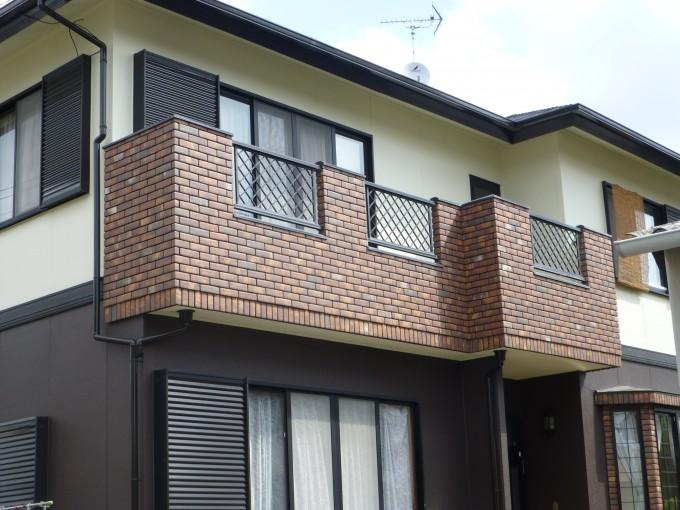 浜松市南区カルセラタイル施工・外壁リシン壁2色配色・屋根 ...