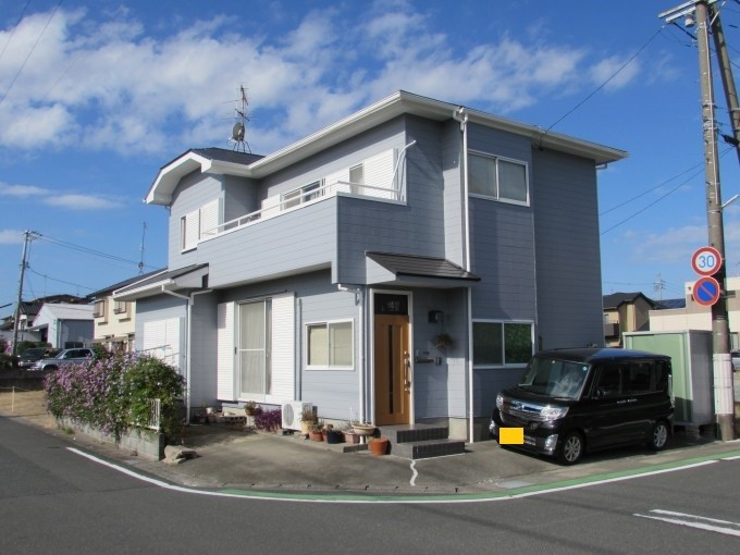 浜松市東区 外壁サイディング塗装 屋根カラーベスト塗装 施工後