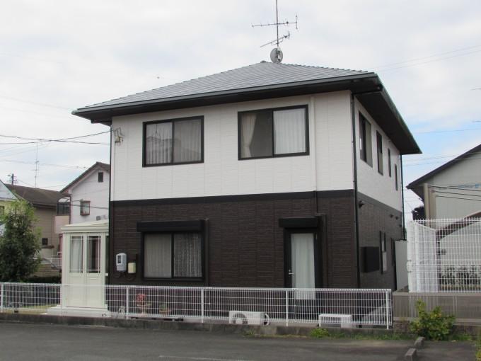 浜松市北区外壁屋根塗装2色ツートン